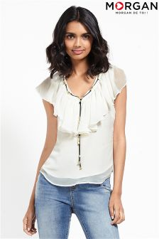 Morgan V neck With Detail Chain