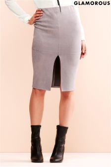 Glamorous Suede Midi Skirt