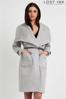 Lost Ink Wrap Coat