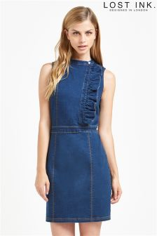 Lost Ink Denim Bodycon Dress