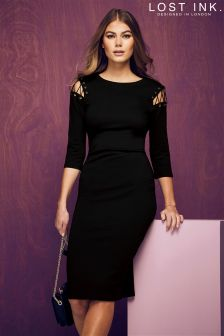 Lost Ink Bodycon Dress