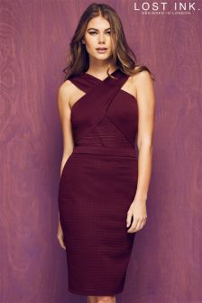 Lost Ink Textured Bodycon Dress