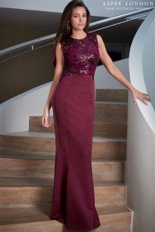 Lipsy Loves Michelle Keegan Sequin Swirl Maxi Dress