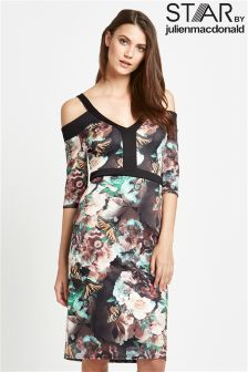 Star By Julien Macdonald Cold Shoulder Kimono Dress