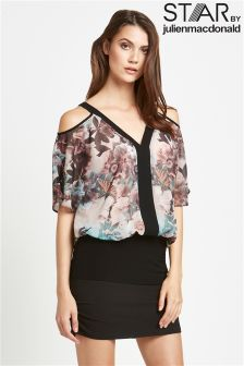 Star By Julien Macdonald Cold Shoulder Top