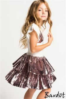 Bardot Junior Sequin Skirt