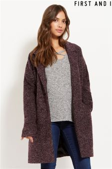 First And I Long Sleeve Blazer Coat