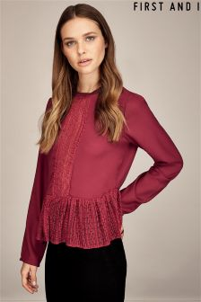 First And I Long Sleeve Blouse