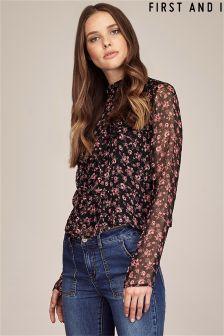 First And I Floral Print Blouse