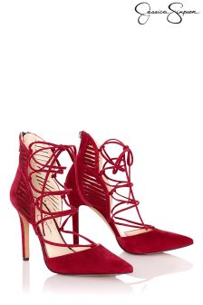 Jessica Simpson Pointed Lace Up Courts