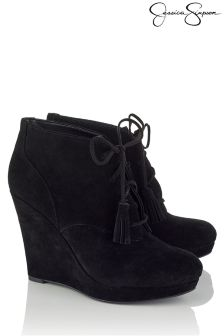 Jessica Simpson Lace Up Wedged Boots