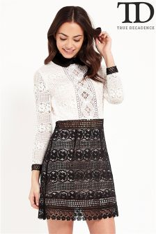 True Decadence Collar Lace Dress