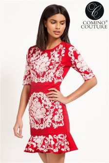 Comino Couture Peplum Dress