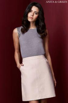 Anita & Green A-line PU Skirt