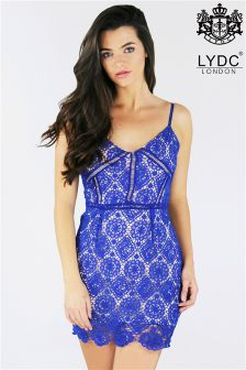 LYDC Lace Embroidered Dress