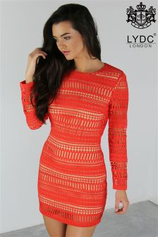 LYDC Embroidered Lace Dress