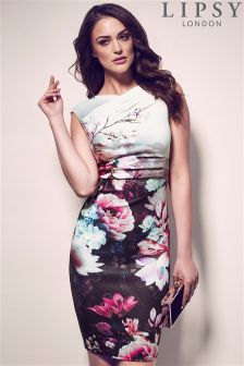 Lipsy Print Ombre Bodycon Dress