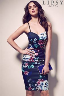 Lipsy Sweetheart Printed Floral Bodycon Dress