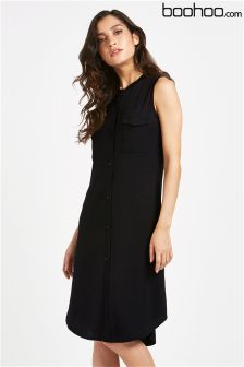 Boohoo Button Through Shirt Dress