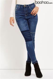 Boohoo Distressed Biker Skinny Jeans