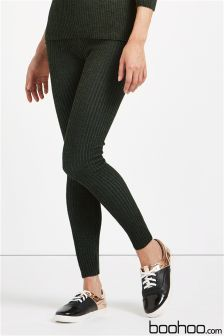 Boohoo Knitted Ribbed Leggings
