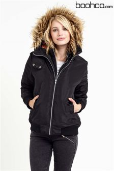 Boohoo Double Layer Bomber Jacket