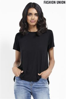 Fashion Union Open Frill Back T-shirt