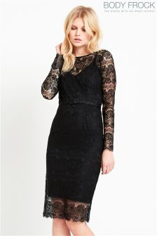 Body Frock Lace Long Sleeve Dress