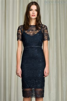 Body Frock Lace Overlay Midi Dress