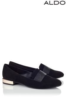Aldo Round Toe Leather Loafers