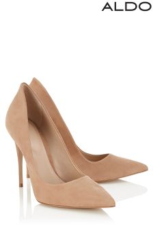 Aldo Pointed Leather Court Heels