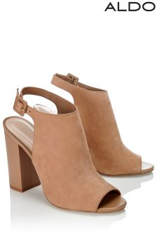 Aldo High Block Peep Toe Leather Boots