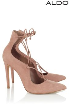 Aldo High Heel Pointy Toe Leather Pumps
