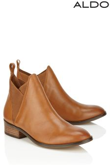 Aldo Flat Leather Ankle Boots