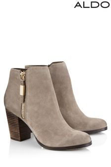 Aldo Zip Up High Heel Chelsea Boots