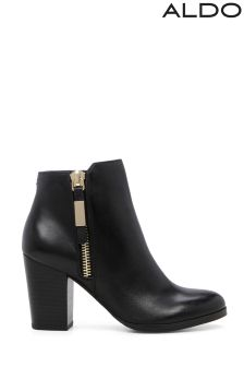Aldo High Heel Leather Ankle Boots