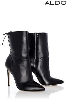 Aldo Leather Pointed Stiletto Boots