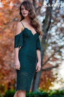 Bardot Lace Cold Shoulder Dress