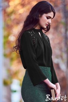 Bardot Lace Bell Sleeve Blouse