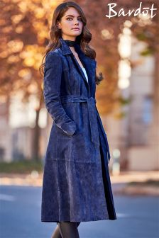Bardot A line Suede Trench Coat