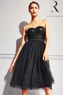 Rare Bandeau Sequin Tulle Prom