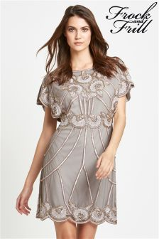 Frock and Frill All Over Sequin Batwing Dress