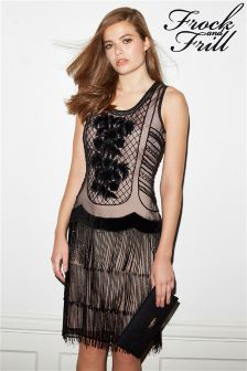 Frock and Frill All Over Sequin Flapper Dress