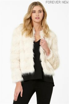Forever New Cropped Fur Coat