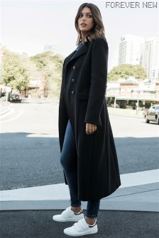 Forever New Military Long Line Coat