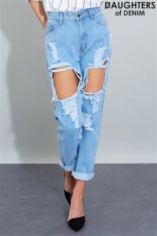 Daughters Of Denim Ripped Jeans