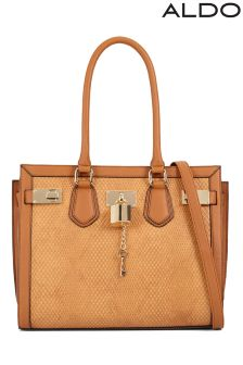 Aldo Snake Tote With Lock Detail