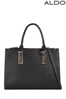 Aldo Large Tote With Lock Detail
