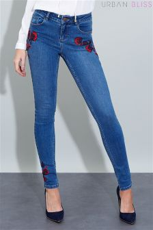 Urban Bliss Embroidered Jeans