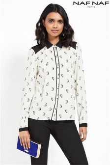 Naf Naf Printed Long Sleeve Blouse